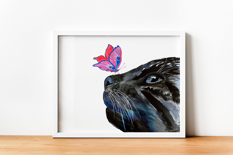 "Cat Kitten poster wall art home decor photo print 24x24/"" inches"