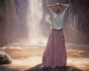 Boho maxi linen skirt • Bohemian skirt • Renaissance skirt • Organic gypsy skirt • Victorian skirt linen