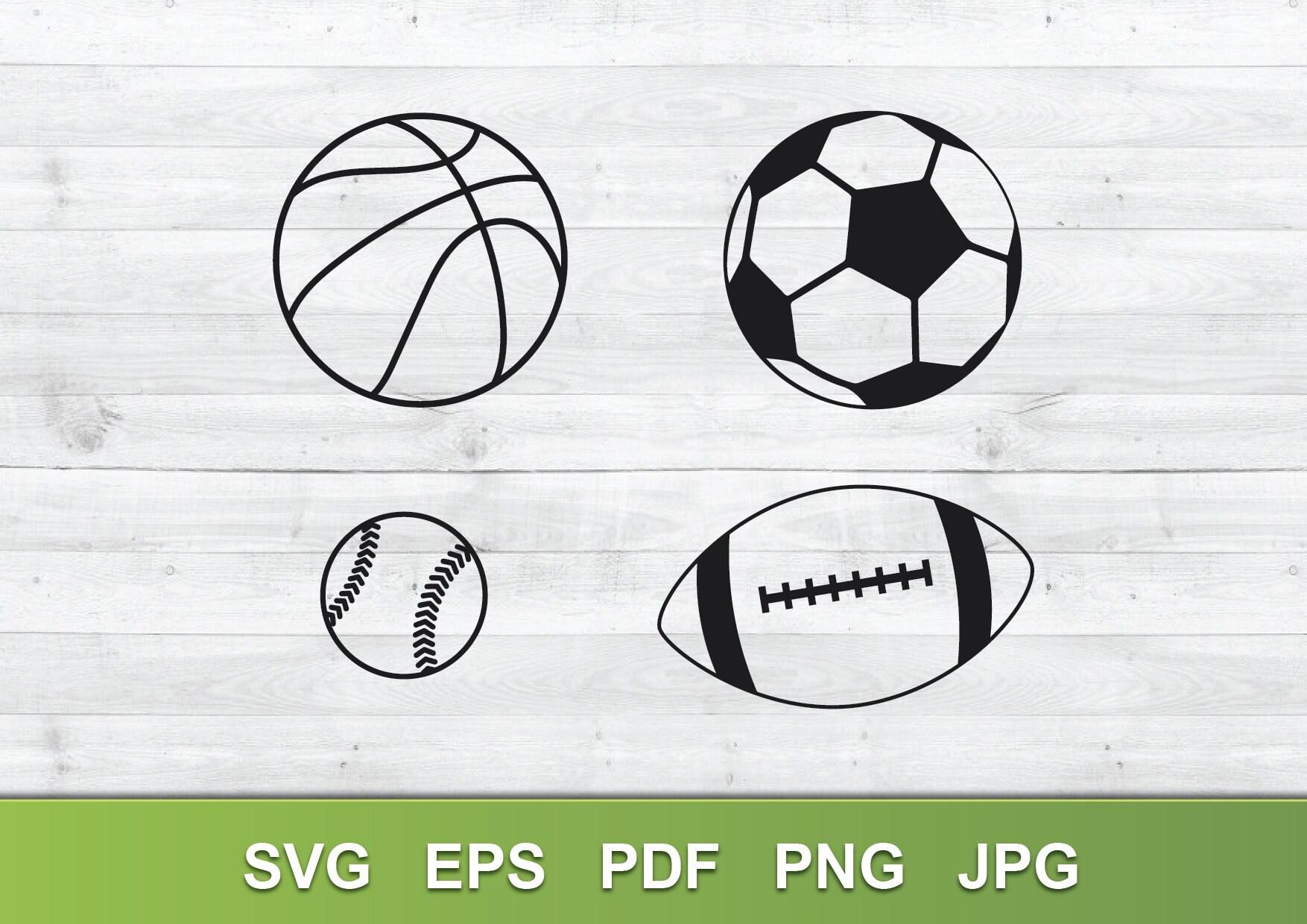 Sports Ball Clip Art Bundle Svg Eps Pdf Png Jpeg Sport Etsy