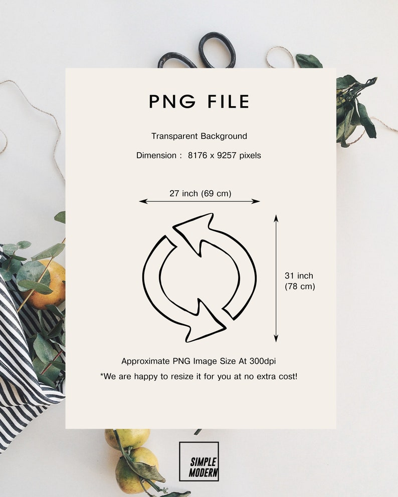 png and pdf Arrows Outline Cut File eps Repeat Arrow Circle svg file for Cricut Hand-Drawn Two Arrows in Circle Digital Download dxf