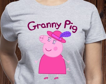 a331bd9e9 Granny Pig shirt/ Peppa Pig Granny shirt/ Grandma Pig tee/ Gift for  Grandmother/ Grandma Birthday/ Peppa Pig Birthday gift/ womens tee/(M31)