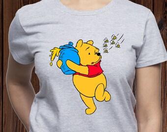 99fe44e87 Winnie Pooh shirt/ Bee tshirt/ Honey t-shirt/ Winnie the pooh t shirt/ Pooh  tee/ Disney trip shirt/ womens shirt/ Disney t-shirt/ tee (M51)