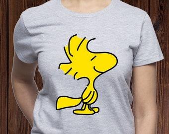 2edb879e9 Woodstock shirt/ Happy Woodstock t shirt/ Peanuts Woodstock tshirt/ Snoopy  shirt/ Bird tee/ Peanuts comic tee/ womens shirt/ for women/(M69)