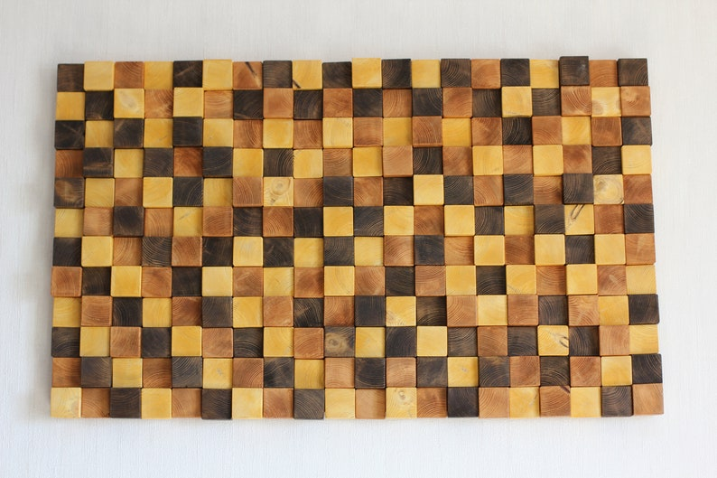 3d Wooden Mosaic Wooden Wall Decor Wood Wall Art Rustic Wood Mosaic Wall Art Modern Wood Art Wall Hanging For Home Decor