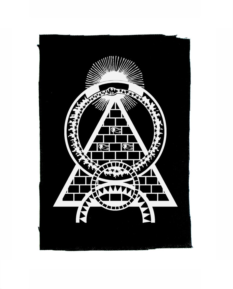 Forbidden Knowledge/ Goth Patch/ Occult Patch/ Large Sew on Patch/ Back  Patch/ Occultism