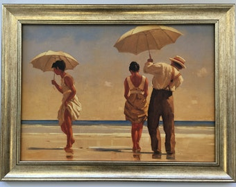 Jack Vettriano Dance Me the End of Love Framed Canvas Effect Print 55cm x 42cm