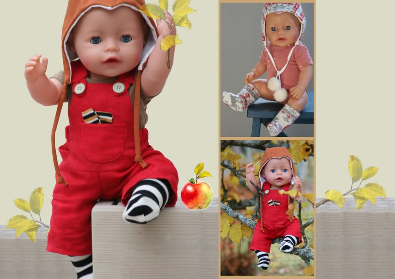 Pocket Overalls Short Sleeve Bodysuit Socks and image 0