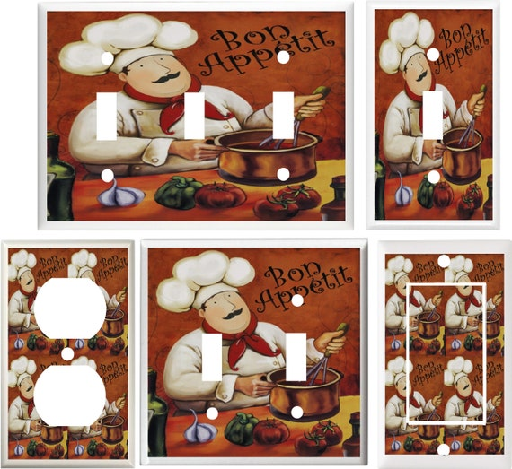 Fat Chef Kitchen Decor Light Switch Cover Plate V878