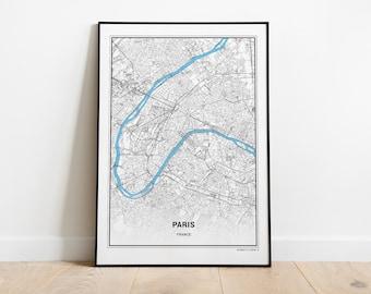 61d70aa2 Paris Map Print, Paris Carte, Paris City, Paris Map Poster, France City,  City Map Print, Black and White Map, France, France Print, Wall Art