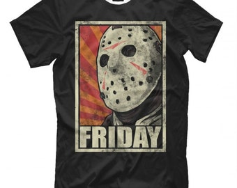 11077473f Friday The 13th T-Shirt, Jason Voorhees Tee, Men's Women's All Sizes