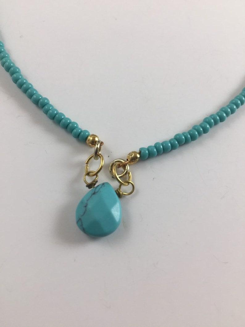 Minimalist turquoise necklace