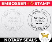Notary Embosser, Notary Self Inking Stamp, Notary Public Embossing Seal, Corporate Embosser, Custom Business Seal