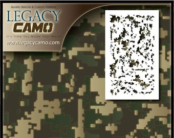 graphic relating to Printable Camo Stencil called Electronic camo stencil Etsy