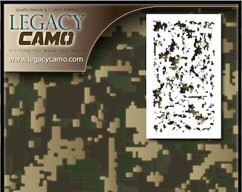 graphic about Digital Camo Stencil Printable identify Electronic camo stencil Etsy