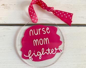 Nurse Christmas Ornament, Mom Ornament, Fighter Christmas Gift, Essential Ornament, Handmade Ornament