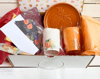Fall Baking Party Box, Thanksgiving Party Box, Friendsgiving Gift, Blessed Thankful Gift