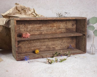 Shallow Wooden Crate Etsy