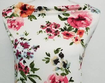 bf7f0a0af97 Watercolor floral knit fabric-sold by the yard-spring summer floral knit