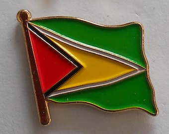 GUYANA Country Metal Flag Lapel Pin Badge