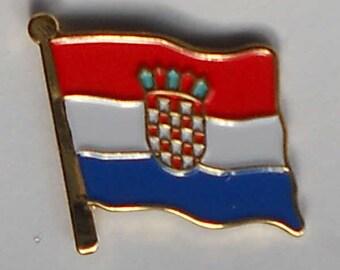 Croatia Croatian Hrvatska Flag Balkan Country Metal Enamel Lapel Pin Badge