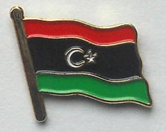 LIBYA NEW COUNTRY FLAG METAL lapel PIN BADGE ..NEW