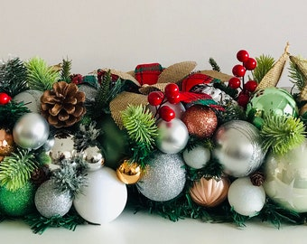 Christmas Table Centrepiece Etsy