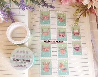 Retro Items Stamp Washi Tape