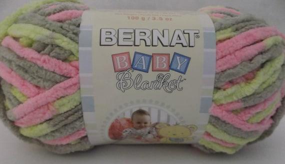 Brand New Litte Girl Dove Bernat Baby Blanket Big Ball Yarn