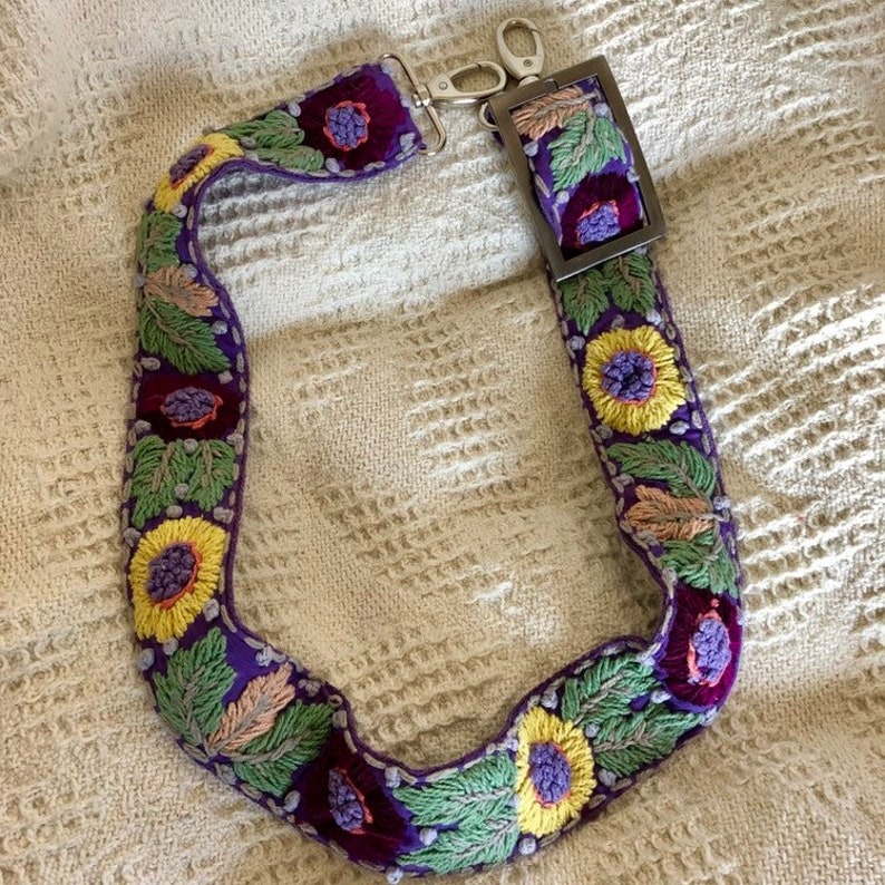 Hand Embroidered Indian Cotton Strap NEW!!