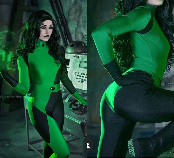 Kim Possible Shego Cosplay Costume Custom Made