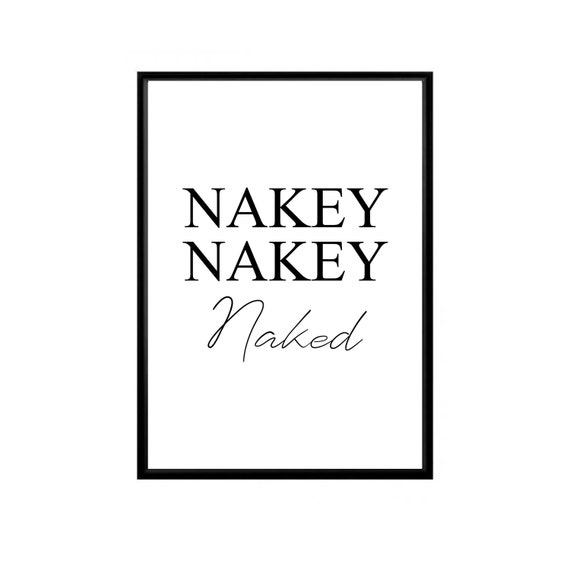 washroom bathroom wall print wall art Nakey Nakey Naked bathroom print