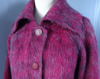1950s STRATHKNIT MOHAIR JACKET/Cardigan.-50s Wool and Mohair Jacket/Cardigan.