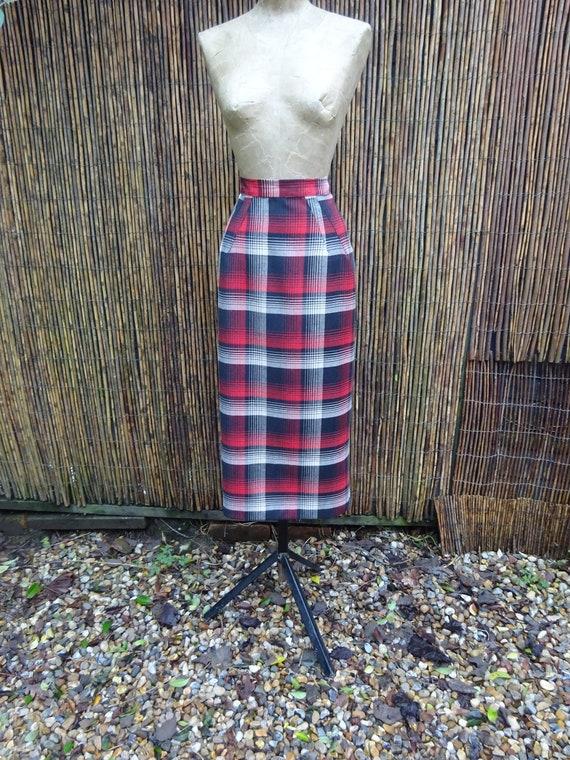 1940s CUSTOM MADE SKIRT-40s Tailormade Skirt-Vinta