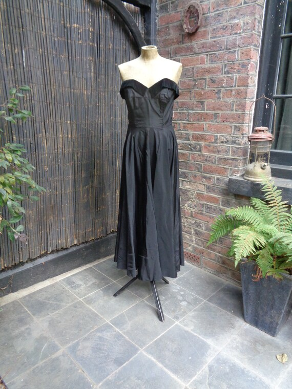 On Hold.......... 1950s TAFFETA EVENING GOWN-50s … - image 1