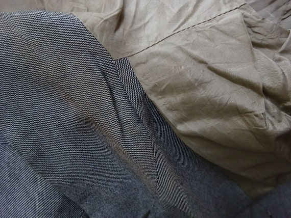 FABULOUS 1940s WORSTED COAT-40s Classic Grey Wool… - image 10
