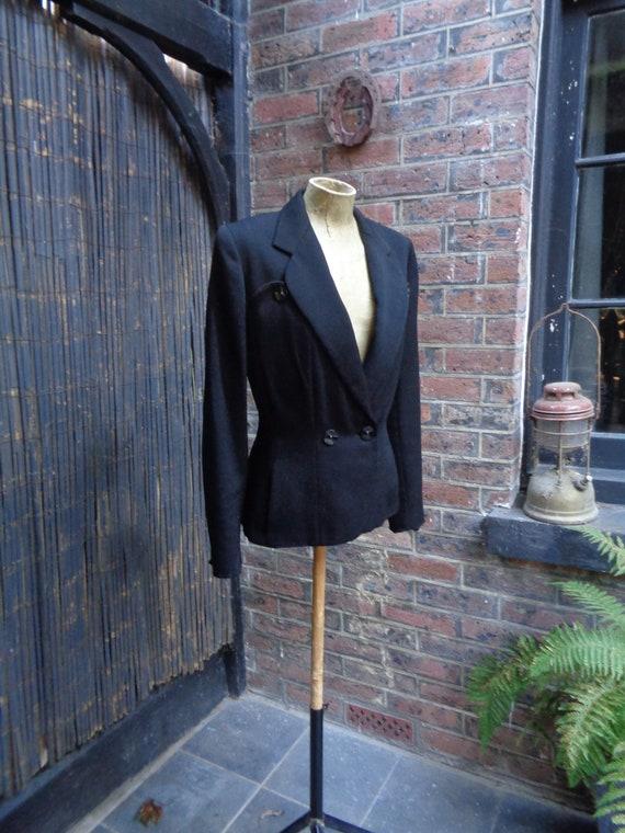 1940s FINE WOOL JACKET-40s Pure Wool Jacket-Stylis