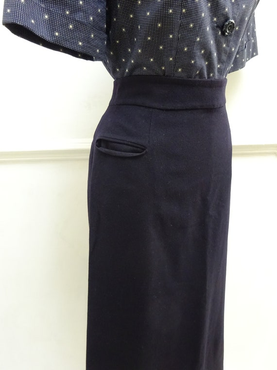 1940s AMERICAN WOOL SKIRT-40s Pure Wool Skirt-40s