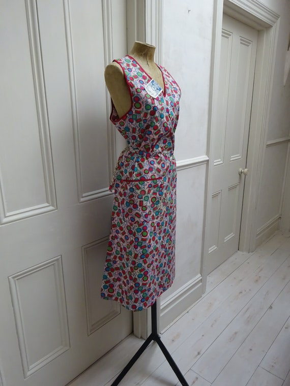 1940s PINAFORE DRESS-UNWORN-40s overalls- - image 9
