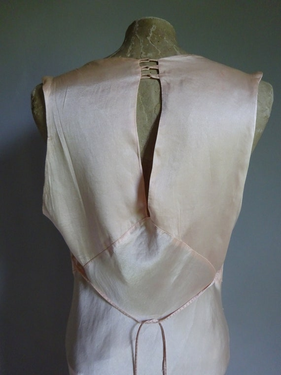 1930s SILK SATIN NIGHTDRESS-30s Silk Slip-1930s S… - image 7