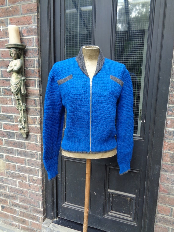 1950's Hand Knitted Jerkin/Cardigan-Perfect for Me