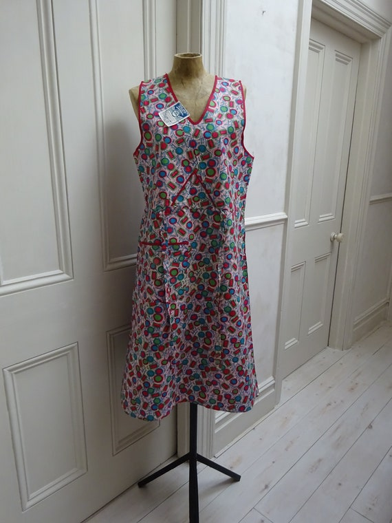 1940s PINAFORE DRESS-UNWORN-40s overalls- - image 3
