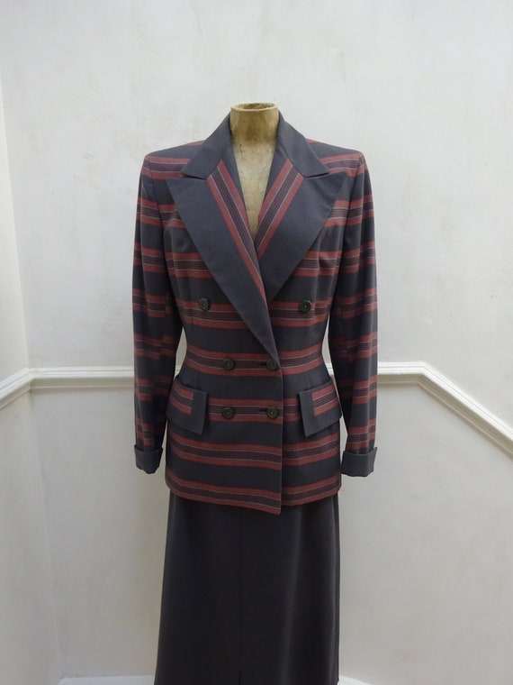 1940s AMERICAN WOMENS SUIT-40s Stunning Hollywood