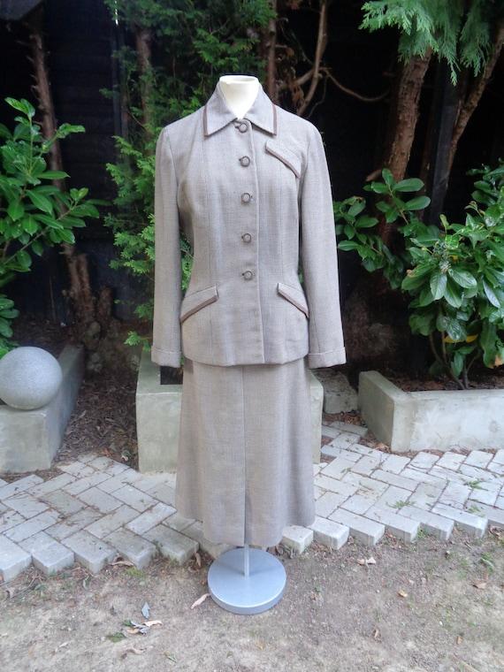 A  1940's BIRDSEYE WOOL SUIT-40s American Wool Sui