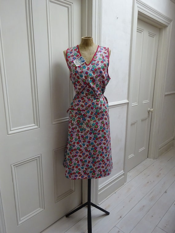 1940s PINAFORE DRESS-UNWORN-40s overalls- - image 2