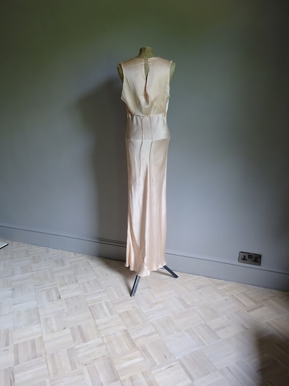 1930s SILK SATIN NIGHTDRESS-30s Silk Slip-1930s S… - image 5