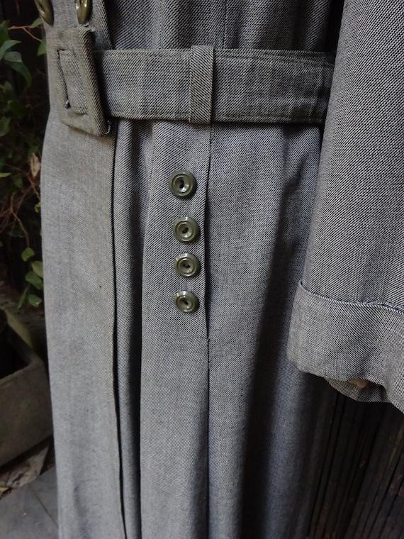 FABULOUS 1940s WORSTED COAT-40s Classic Grey Wool… - image 8