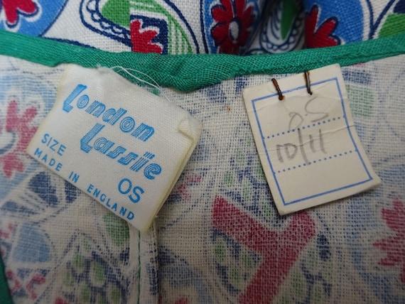 1940s PINAFORE-UNWORN 40s OVERALLS-1940s Abstract… - image 10