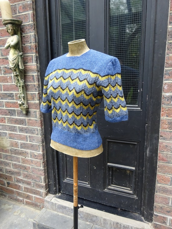 1940s CUSTOM MADE SWEATER-40s Pure Wool Jumper-40s
