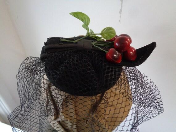 CHERRY FASCINATOR-Beautiful Cherry Fascinator!-Vin