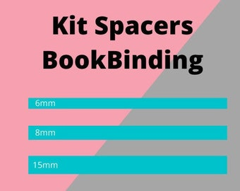 BookBinding Acrylic spacer Tool, Cartonnage Tools, Bookbinding Tools, Kit Ruler 3mm thickness, Square Spacer, Box Making, craft tools